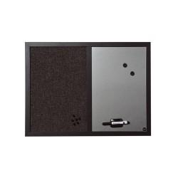Kombitábla Bi-Office Black Shadow fakeretes 45x60 cm ezüst/fekete