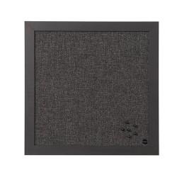 Üzenőtábla Bi-Office Black Shadow tűzhető felülettel textil 45x45 cm szürke