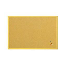 Parafatábla Bi-Office fakeretes 40x60 cm sárga