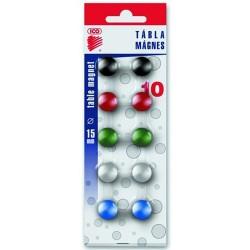 Táblamágnes Ico 15 mm 10 db/csomag vegyes színek