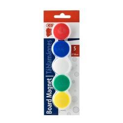 Táblamágnes Ico 30 mm 5 db/csomag vegyes színek