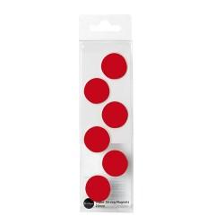 Táblamágnes Bi-Office 20 mm 6 db/csomag piros