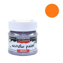 Kreatív akrilfesték Pentart fényes 50 ml narancssárga