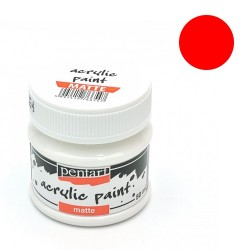 Kreatív akrilfesték Pentart matt 50 ml piros 5051