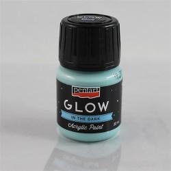 Kreatív akrilfesték Glow sötétben világító 30 ml kék