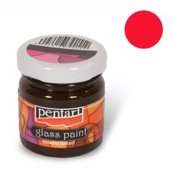 Kreatív üvegfesték festék Pentart 30 ml piros