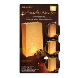 Kreatív Luminaria lámpásszett nagy karácsonyi 8 db/csomag