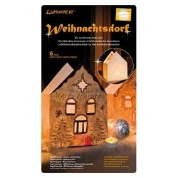 Kreatív Luminaria lámpásszett nagy karácsonyi ház 6 db/csomag