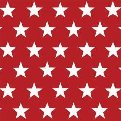 Szalvéta 33x33 cm 3 rétegű csillagok piros 20 db/csomag
