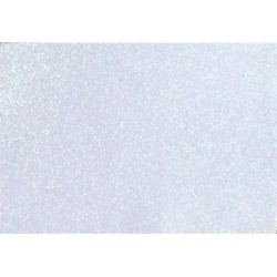 Kreatív dekorgumilap öntapadós 20x30 cm 2 mm glitteres fehér