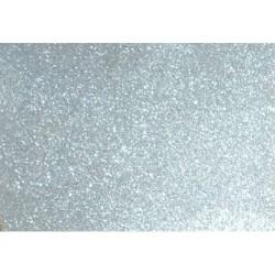 Kreatív dekorgumilap öntapadós 20x30 cm 2 mm glitteres fehérarany