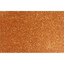 Kreatív dekorgumilap 20x30 cm 2 mm glitteres réz