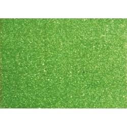 Kreatív dekorgumilap 20x30 cm 2 mm glitteres zöld