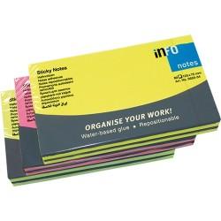 Öntapadós jegyzettömb Info Notes 125x75 mm 80 lapos élénk színek