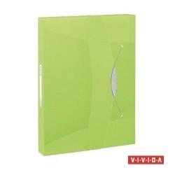 Gumis mappa PP Vivida Jumbo A/4 40 mm zöld