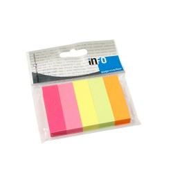 Oldaljelölő Info Notes Info Flag papír 15x50 mm 5x100 lapos élénk vegyes színek
