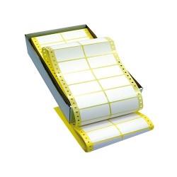 Etikett címke leporellós 72x36,2 mm 8000 db/doboz kétpályás