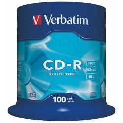 CD-R Verbatim 700 MB írható 52x DataLifePlus 100 db hengeres tok