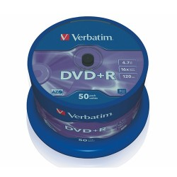 DVD-R Verbatim 4.7 GB 16x Azo 50 db hengeres tok