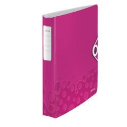 Gyűrűs könyv Leitz Active Wow A/4 4 gyűrűs 30 mm gerinccel softclick rózsaszín