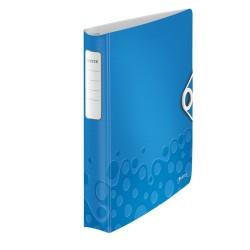 Gyűrűs könyv Leitz Active Wow A/4 4 gyűrűs 30 mm gerinccel softclick kék