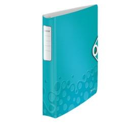 Gyűrűs könyv Leitz Active Wow A/4 4 gyűrűs 30 mm gerinccel softclick jégkék