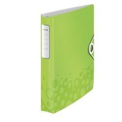 Gyűrűs könyv Leitz Active Wow A/4 4 gyűrűs 30 mm gerinccel softclick zöld