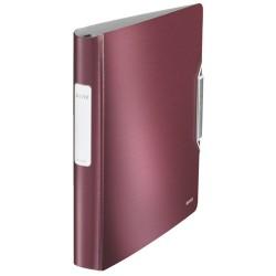 Gyűrűs könyv Leitz Active Sytle A/4 4 gyűrűs 30 mm gerinccel softclick gránátvörös