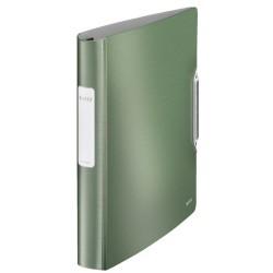 Gyűrűs könyv Leitz Active Sytle A/4 4 gyűrűs 30 mm gerinccel softclick olajfazöld