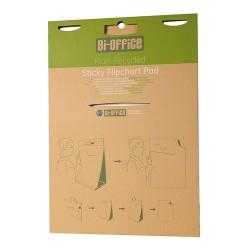 Flipchart papír Bi-Office 50x58.5 cm 80g 20 ív/csomag sima, újrahasznosított asztali