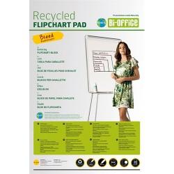 Flipchart papír Bi-Office 65x98 cm 55g 20 ív/csomag sima, újrahasznosított