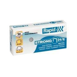 Tűzőkapocs Rapid 24/6 Strong horganyzott, 1000db/doboz