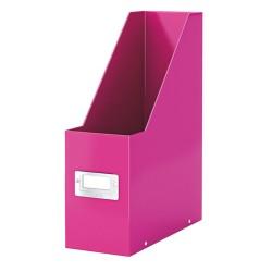 Iratpapucs karton Esselte CLICK&STORE A/4 lakkfényű rózsaszín