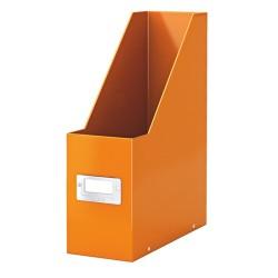 Iratpapucs karton Esselte CLICK&STORE A/4 lakkfényű, narancs