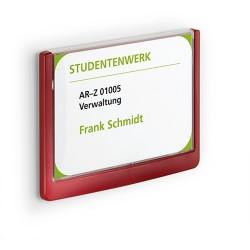 Információs tábla Durable Click Sign 14.9x10,55 cm piros