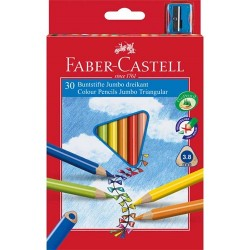 Színes ceruza Faber-Castell Junior háromszögletű 30 db-os klt.