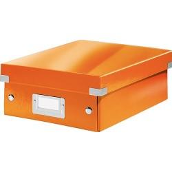 Rendszerező doboz Leitz CLICK&STORE S méret, narancs