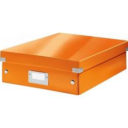 Rendszerező doboz Leitz CLICK&STORE M méret, narancs