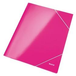 Gumis mappa Leitz Wow Lakkfényű rózsaszín