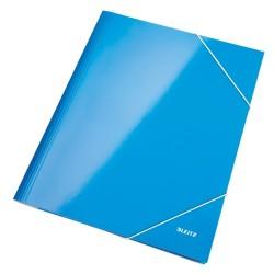 Gumis mappa Leitz Wow Lakkfényű kék