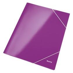 Gumis mappa Leitz Wow Lakkfényű lila
