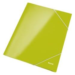 Gumis mappa Leitz Wow Lakkfényű zöld