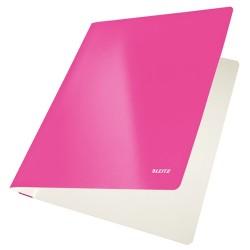 Gyorsfűző Leitz Wow Lakkfényű karton rózsaszín