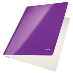 Gyorsfűző Leitz Wow Lakkfényű karton lila