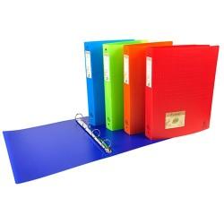 Gyűrűs könyv Exacompta Forever A/4 4 gyűrűs 30 mm gerinccel vegyes színek