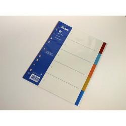 Elválasztólap PP A/4 5 részes színes