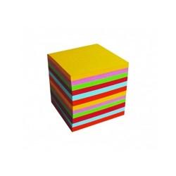 Kockatömb 8,5x8,5x7 cm színes