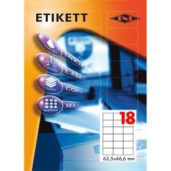 Etikett címke pd 63,5x46,6 mm 100 ív
