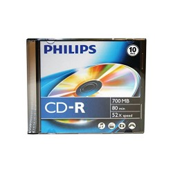 CD-R80 Philips slim 52 x írható CD