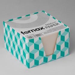 Kockatömb Fornax 9x9x6 cm mintás adagolóval fehér